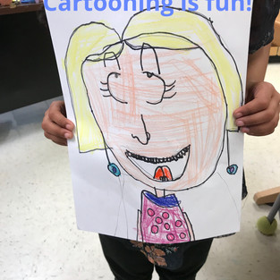 Cartooning at the end of the school year!