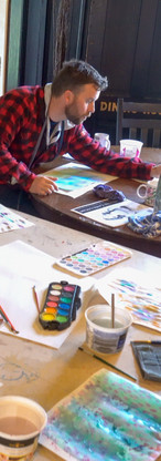 Painting with water-colour