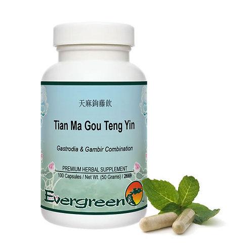 Tian Ma Gou Teng Yin - Capsules (100 count)