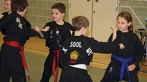 Children doing martial arts