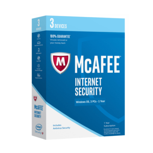McAfee Internet Security 2020 3 Devices (1) Year