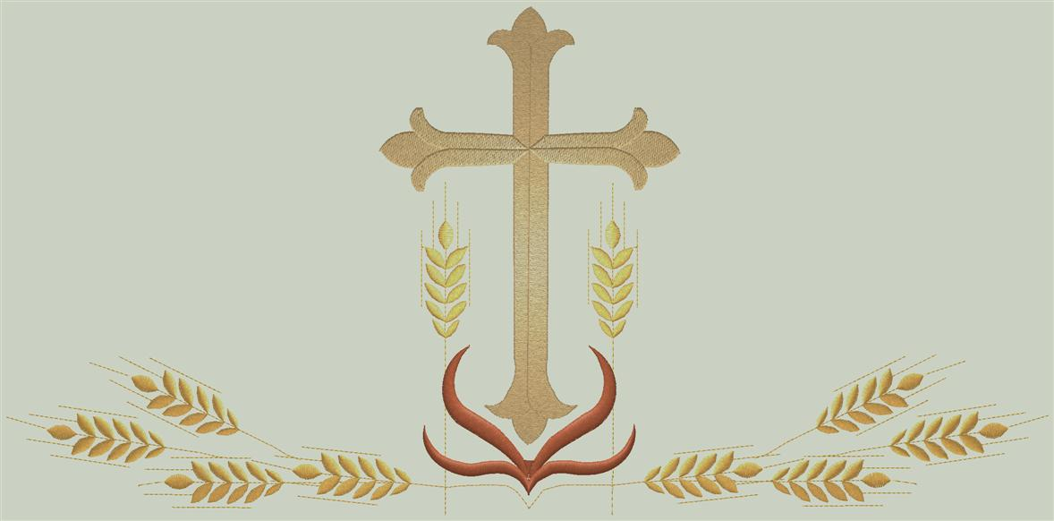 CRSD#5025 - Cross and wheat