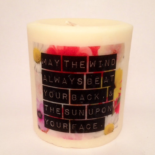 Pillar Soy Candle-Flower Child