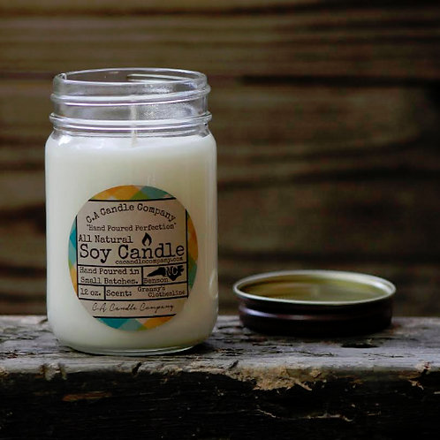 PKUP-12 oz Granny's Clothesline Soy Candle