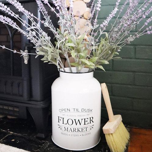 Flower Market Milk Can