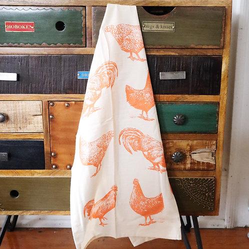 Neon Chicken Tea Towel