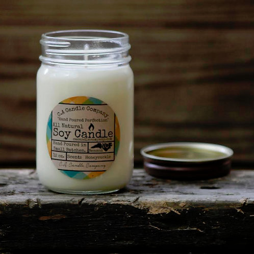 PKUP-12 oz Honeysuckle Soy Candle