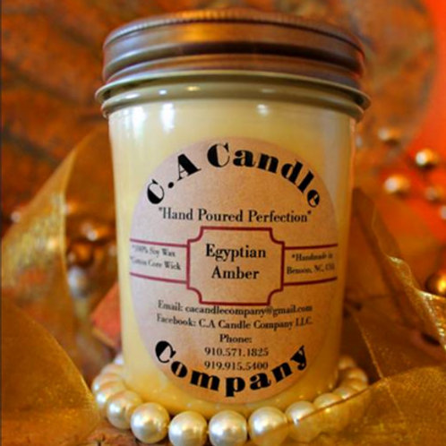 Fundraiser: Egyptian Amber 8oz Soy Candle