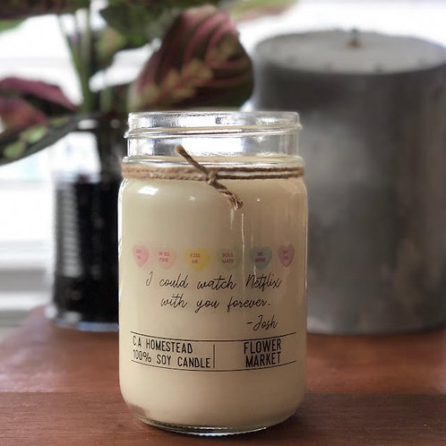 12 OZ SWEET HEART SOY CANDLE