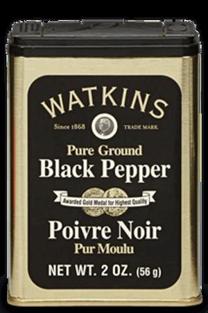 2 OZ. PURE GROUND BLACK PEPPER