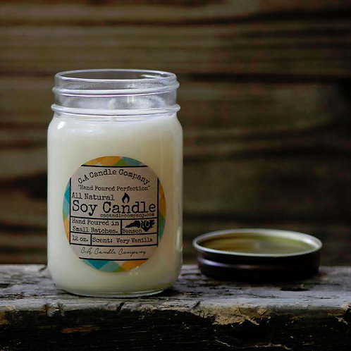 12 oz Very Vanilla Soy Candle