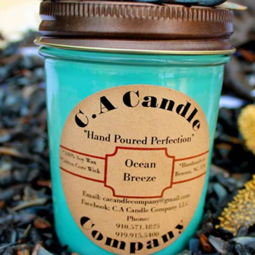 Fundraiser: Ocean Breeze 8oz Soy Candle
