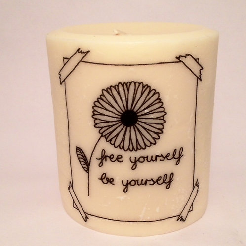 Pillar Soy Candle-Free Yourself
