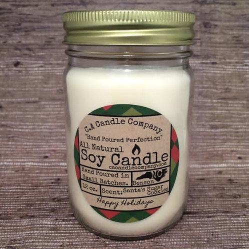 PKUP-12oz Santa's Sugar Cookies Soy Candle