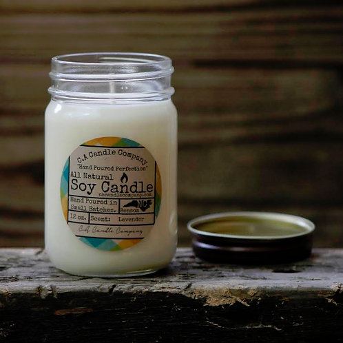 PKUP-12 oz Lavender Soy Candle