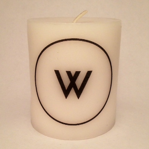 Pillar Soy Candle- Single Initial Monogram