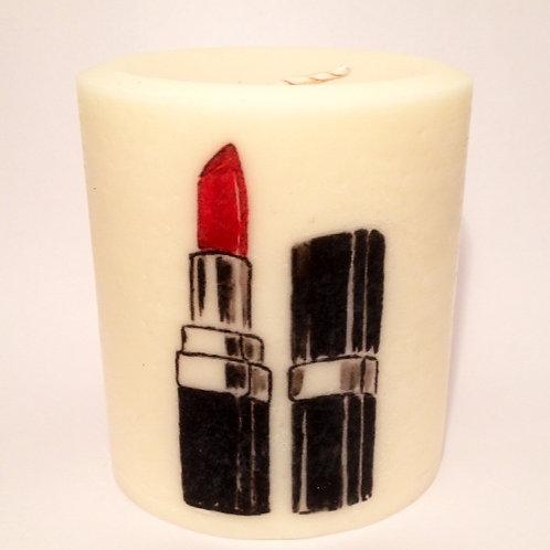 "Pillar Soy Candle-""Lip Stick"""