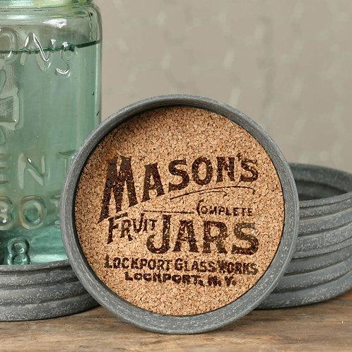 Fruit Jar Mason Jar Lid Coaster