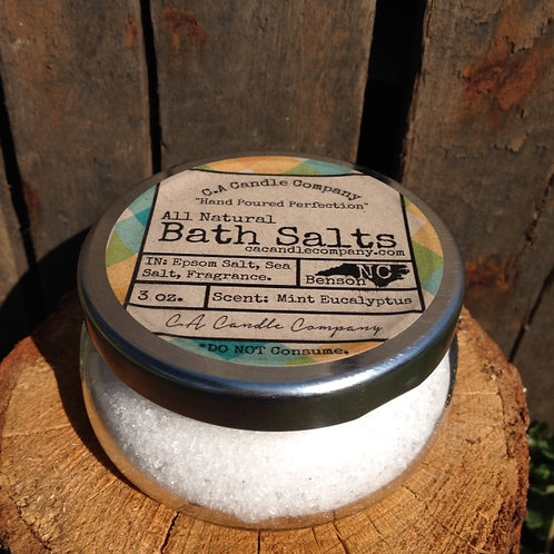 3 oz Mint Eucalyptus Aromatic Bath Salts