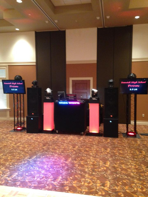 Prom Setup with Flat Screen Televisions!