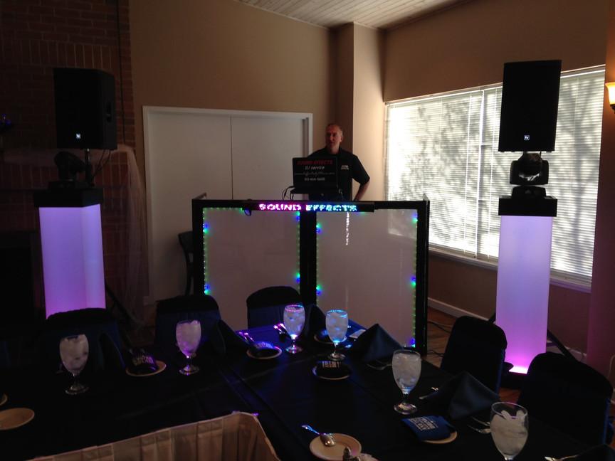 Wedding setup at Browns Run Country Club