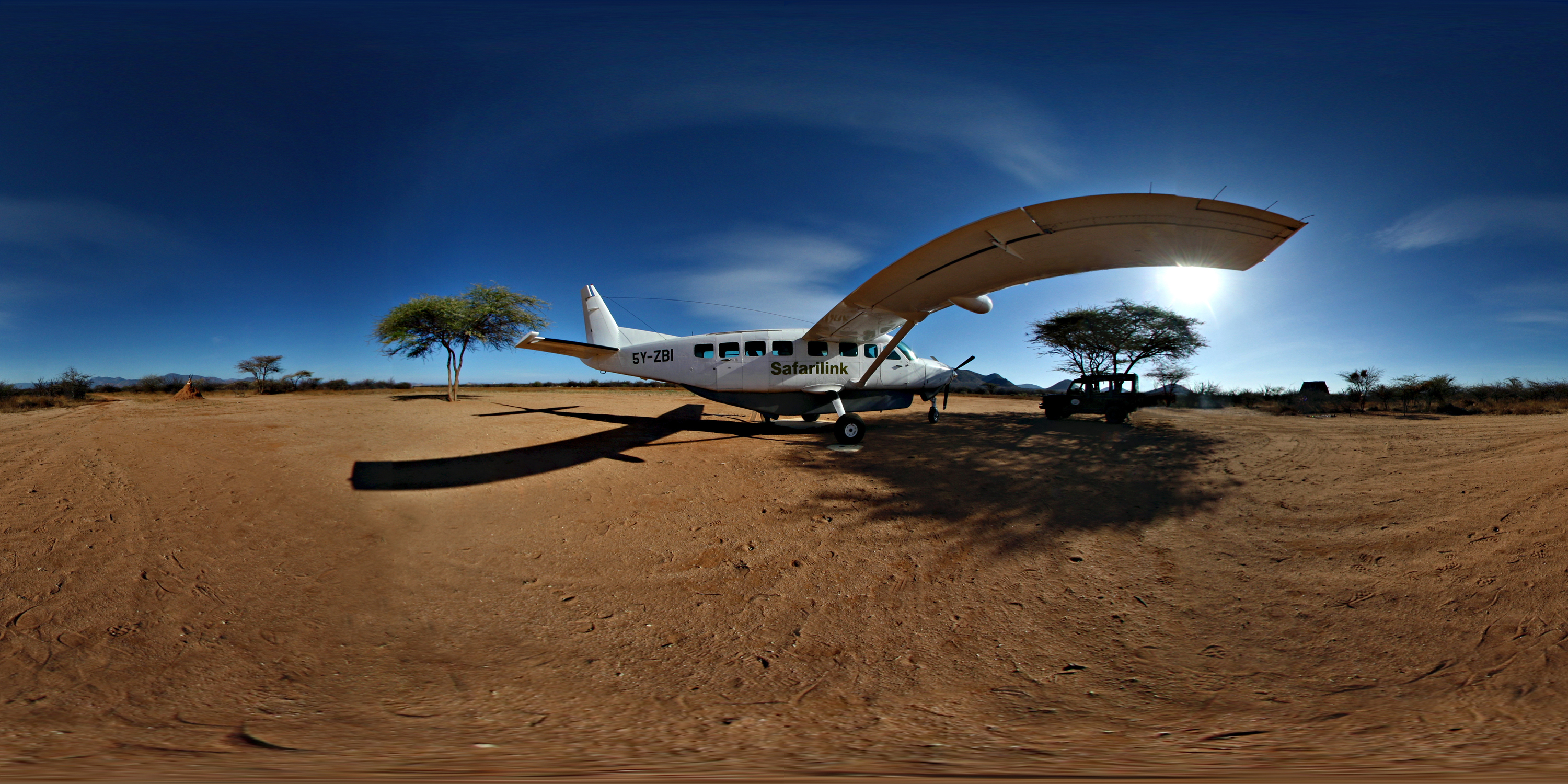 Bush Airstrip in Samburu, Kenya