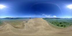 Sandbar off Guernsey Coast