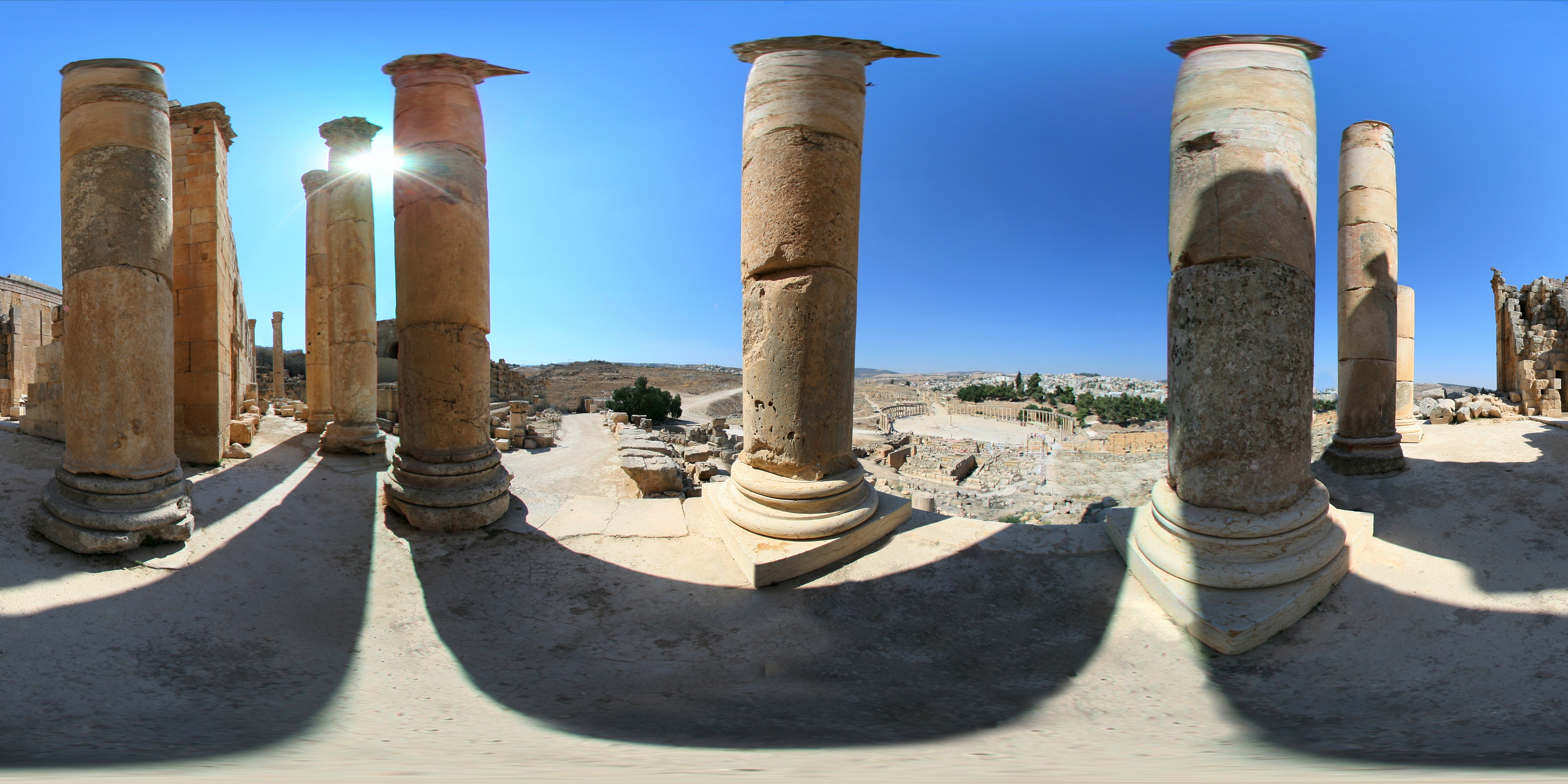 Zeus Temple at Jerash - Jordan