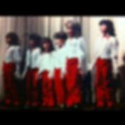 "Jennifer Y. Johnson Garca and fellow ""Our Gang Singers"" circa 1983"