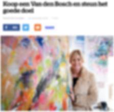 Abstract schilderij ten voordele van het goede doel