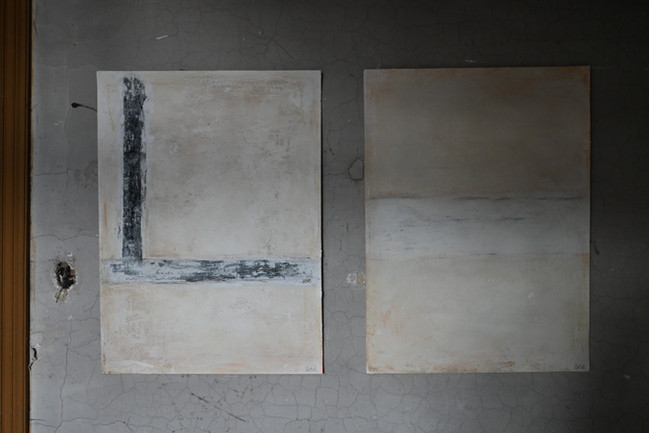 Set of two paper works