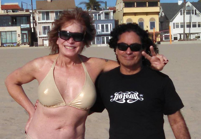 Gail & John hanging out at Hermosa Beach yesterday