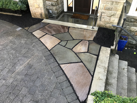 Varigated flagstone patio, West Vancouver BC