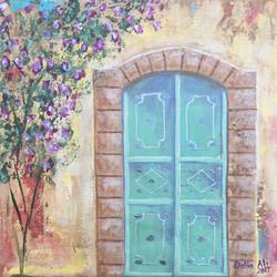 J99- Green door with Majnouneh