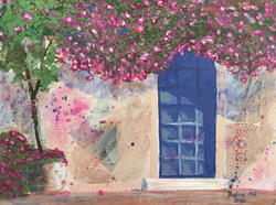 J53- Door covered with Rose Bush