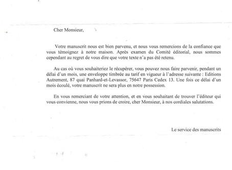 REPONSE DE FLAMMARION / AUTREMENT