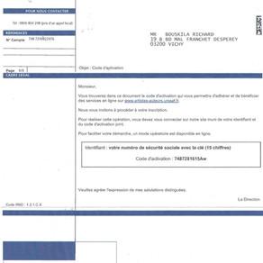 doc urssaf code d'authentification