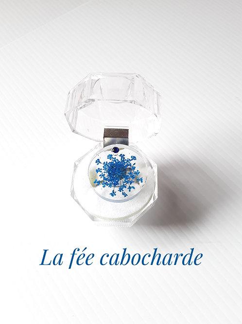 """Bague """"Fleurs bleues """""""