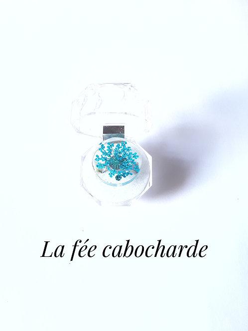 """Bague """" Fleurs turquoises"""""""