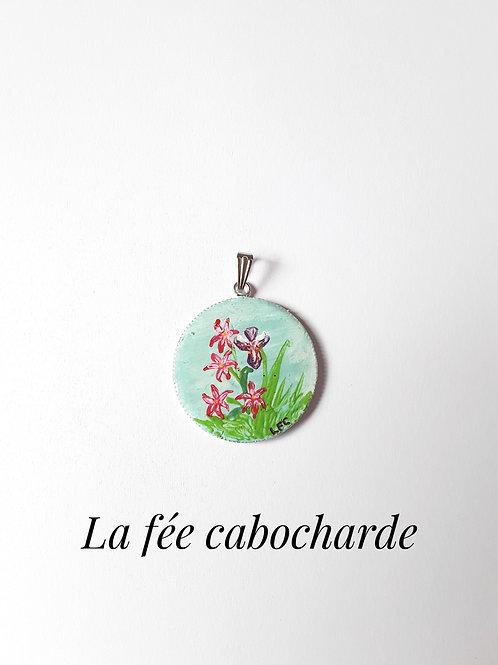 """Pendentif tableau """"Jardin"""""""