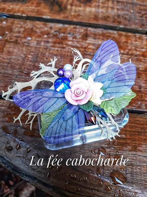 """Boîte à musique """"Féerique"""" violette"""