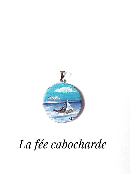 """Pendentif tableau """"Voyage"""""""
