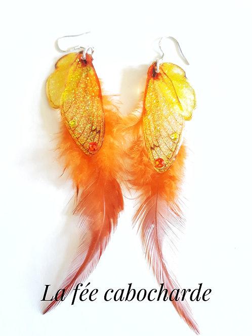 """Boucles Ailes de fée """"Phoenix"""""""