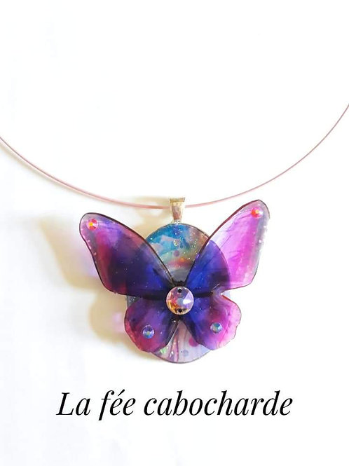 "Collier "" Papillon dragée """
