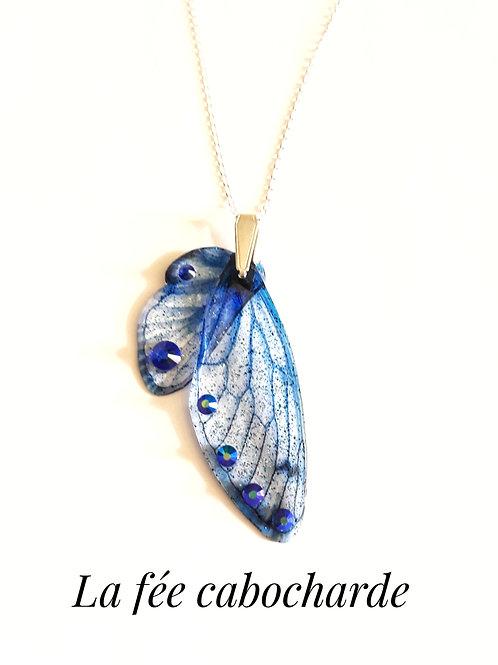 """Collier Ailes de fée """"Lapis Lazuli"""" argent sterling"""