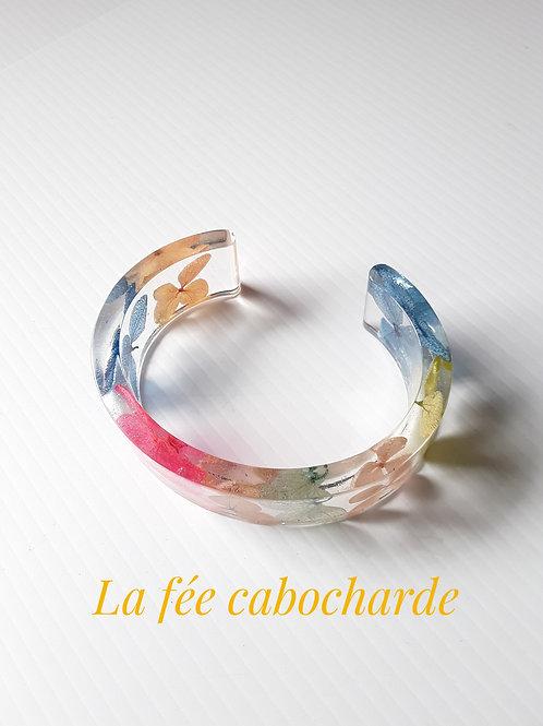"""Bracelet manchette """" Hortensias"""""""