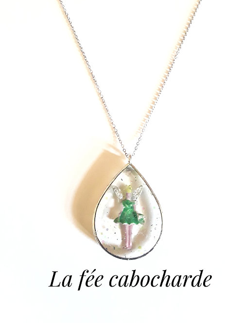 """Médaillon féerique """"Fée verte"""""""