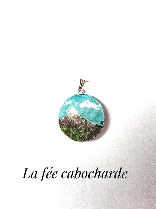 """Pendentif tableau """"Montagne"""""""