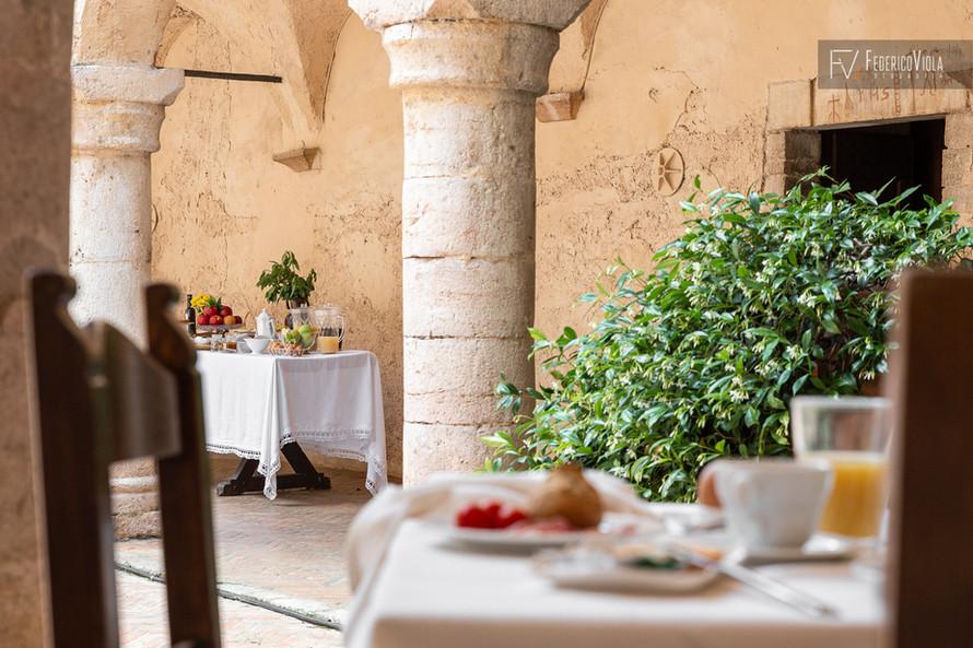 Fotografo colazione hotel residenza d'epoca Federico Viola Fotografia Latina Lazio