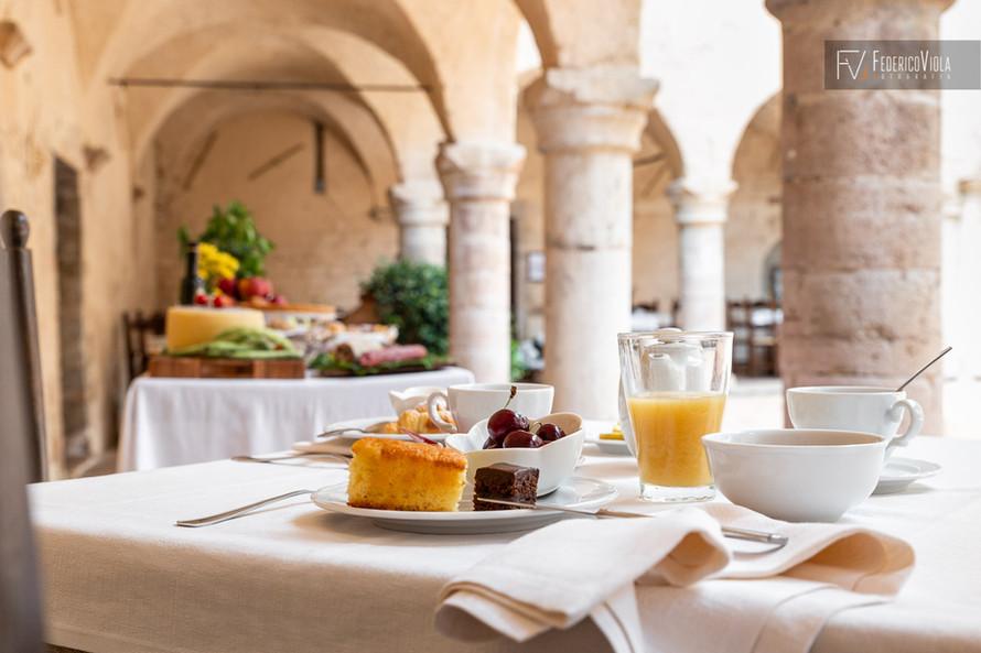 Fotografo colazione food residenza d'epoca Federico Viola Fotografia Umbria